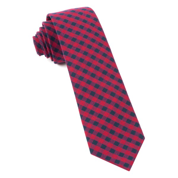 Apple Red Gingham Shade Tie