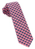 Ties - Gingham Shade - Salmon Pink