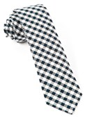 Ties - Gingham Shade - Midnight Navy