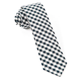 Midnight Navy Gingham Shade ties