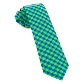 Apple Green Gingham Shade ties