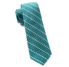 Washed Teal Stars In Stripes By Dwyane Wade ties