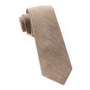 sand wash solid brown ties