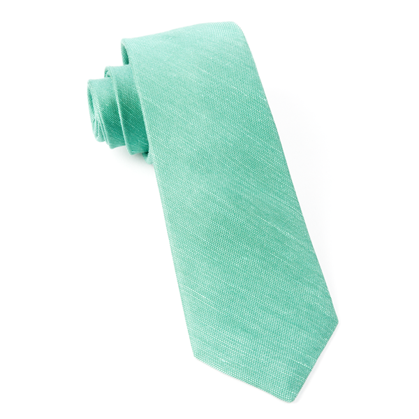 Kelly Green Sand Wash Solid Tie