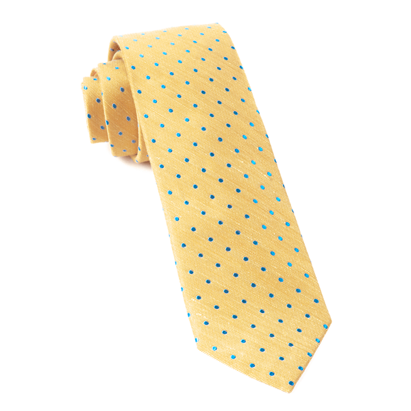 Yellow Dotted Dots Tie