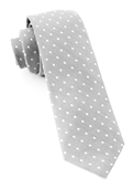 Ties - Dotted Dots - Silver