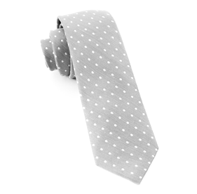 Silver Dotted Dots ties
