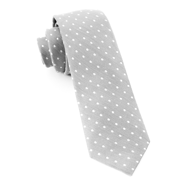 Silver Dotted Dots Tie