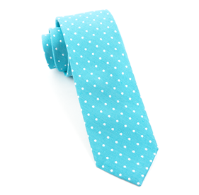 Dotted Dots Turquoise Ties