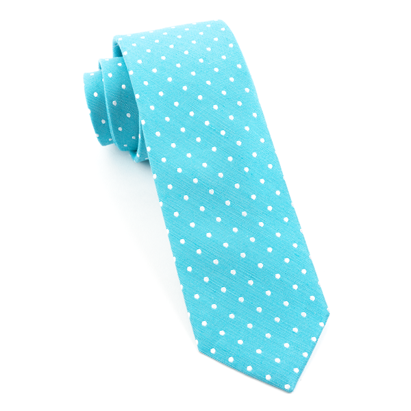 Turquoise Dotted Dots Tie