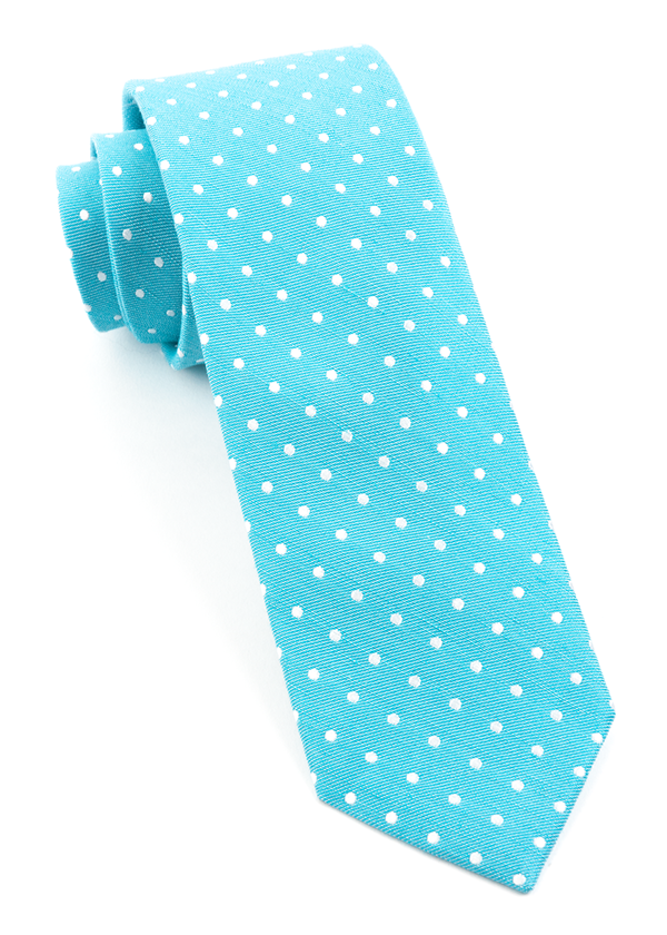 Dotted Dots Turquoise Tie