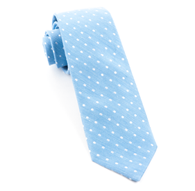 Light Blue Dotted Dots ties