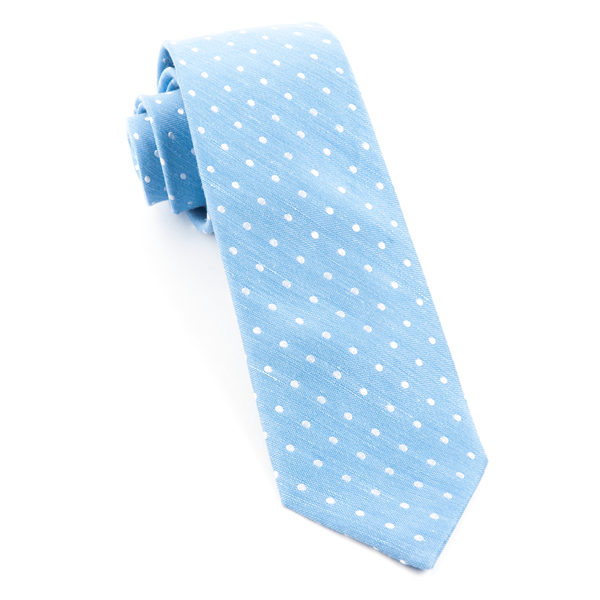 Light Blue Dotted Dots Tie