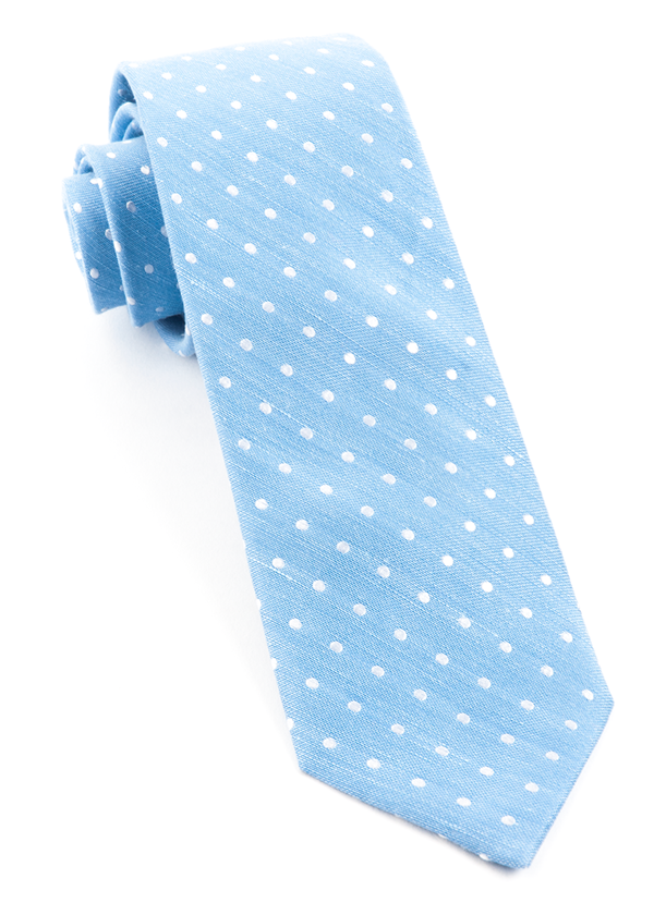 Dotted Dots Light Blue Tie