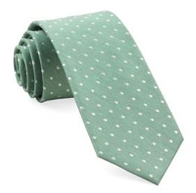 Mint Dotted Dots ties