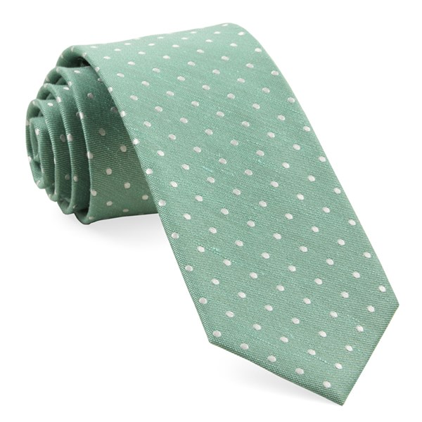 Mint Dotted Dots Tie