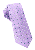 Ties - Half Moon Floral - Purple Orchid