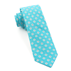 Turquoise Half Moon Floral Tie - Turquoise Half Moon Floral Tie primary image