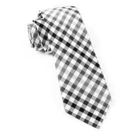 Black Gibson Check ties
