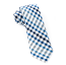 Gibson Check Blue Ties