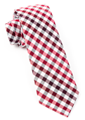 Ties - Gibson Check - Red