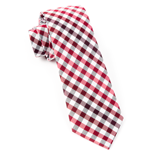 gibson check red ties
