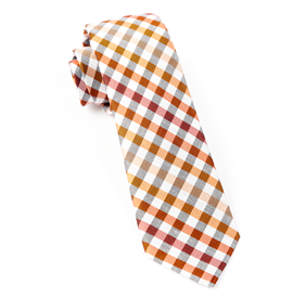 Gibson Check Orange Ties