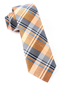 Ties - Bryant Plaid - Orange