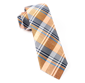 Orange Bryant Plaid ties