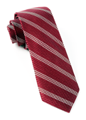 Ties - Dotted Line - Burgundy