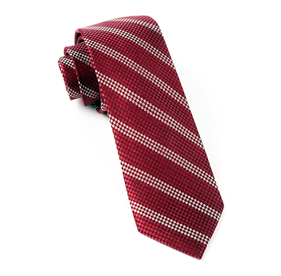 Burgundy Dotted Line ties