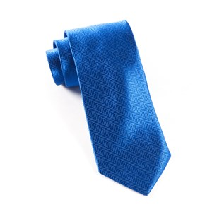 herringbone royal blue ties