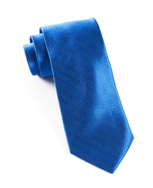 Herringbone Royal Blue Tie