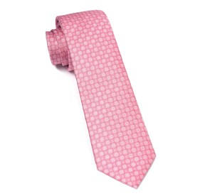 Medallion Form Baby Pink Ties