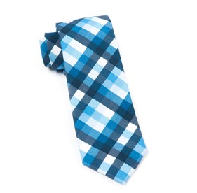 Blue Acoustic Check ties