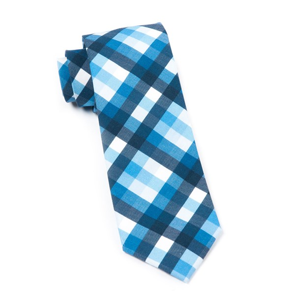 Blue Acoustic Check Tie
