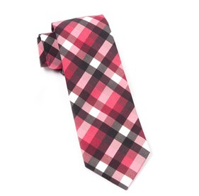 Red Acoustic Check ties