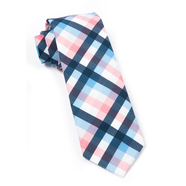 Pink Acoustic Check Tie