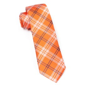 Orange Perry Plaid ties