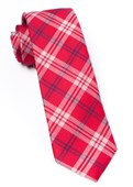 Ties - Perry Plaid - Red