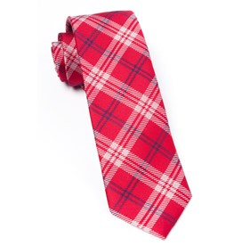 Red Perry Plaid ties