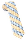 Ties - Gingham Stripes - Yellow