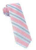 Ties - Gingham Stripes - Red