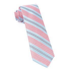 Gingham Stripes Red Ties
