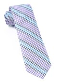 Ties - Gingham Stripes - Lavender