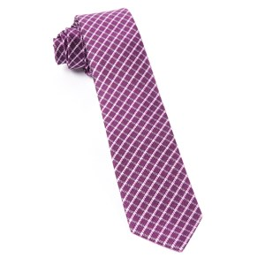 textured checks azalea ties