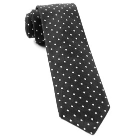 Black Dotted Dots ties