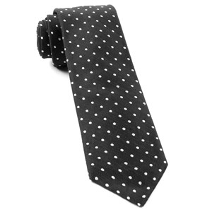 dotted dots black ties