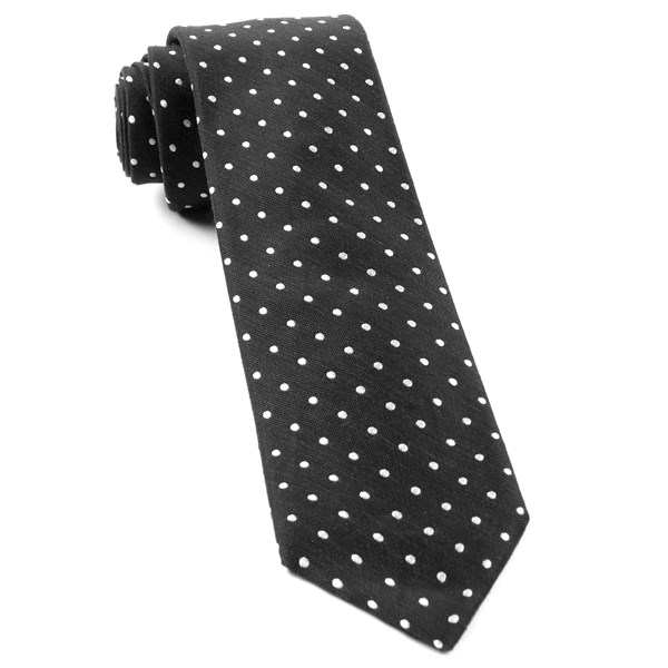 Black Dotted Dots Tie