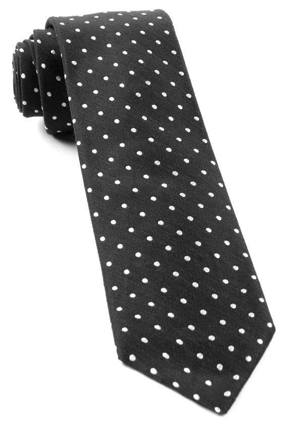 Dotted Dots Black Tie